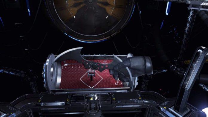 Batman Arkham VR calibrating batarang