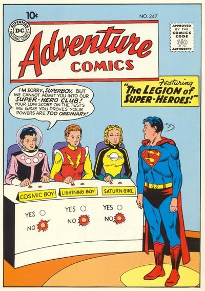 Superboy gets rejected by the Legion of Super Heroes club