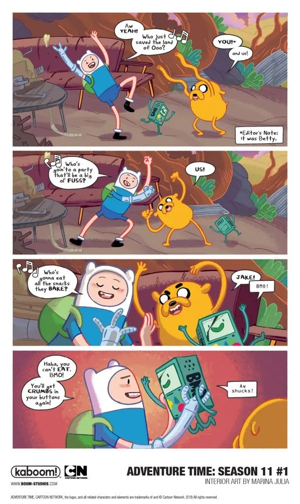 0c913f59704ef2 Advance Preview  Finn and Jake s New Season Starts in a Comic ...