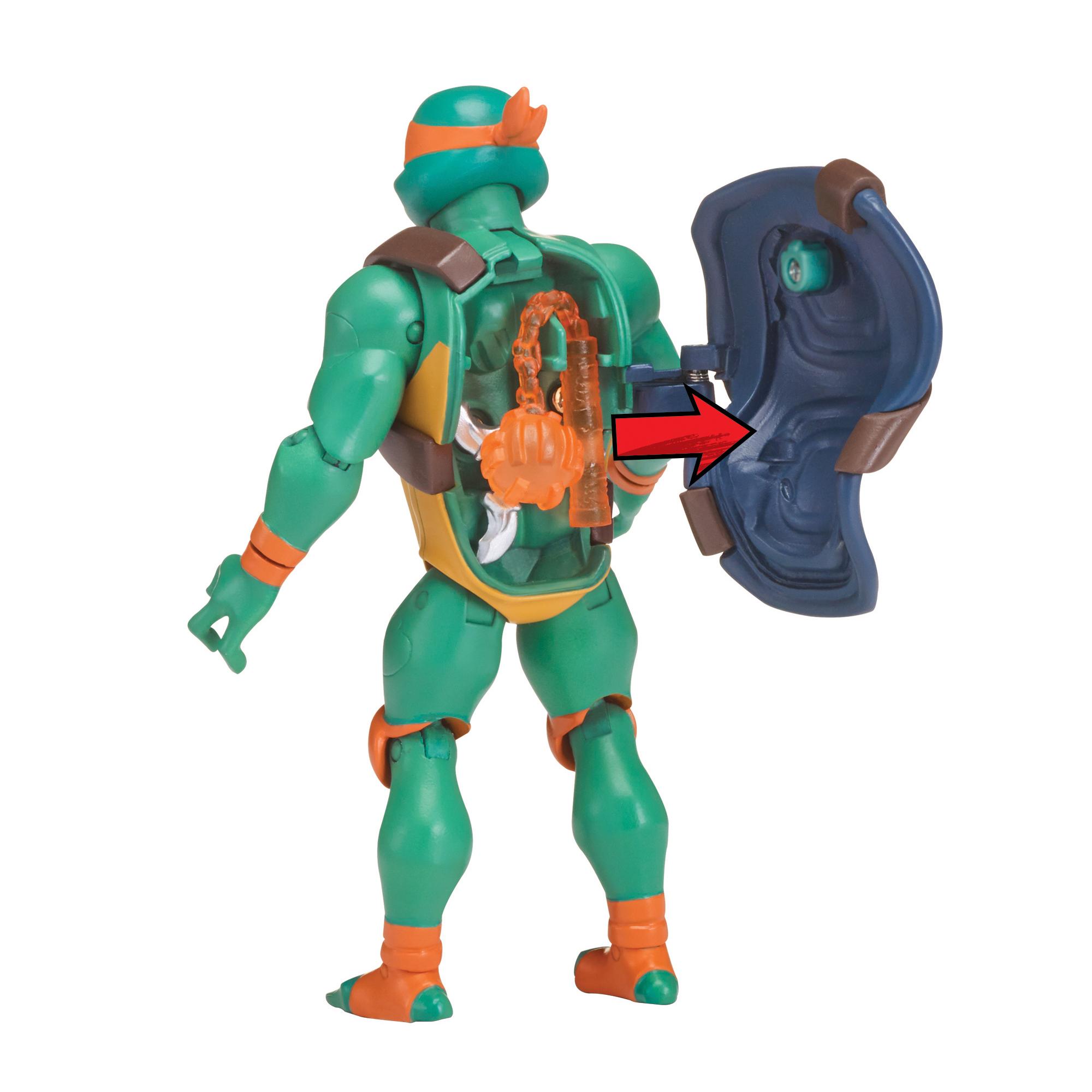 "Ninja Turtles Leo  MICHAELANGELO Raph Donnie 4 Pk 3/"" Action Figure TMNT Clip On"