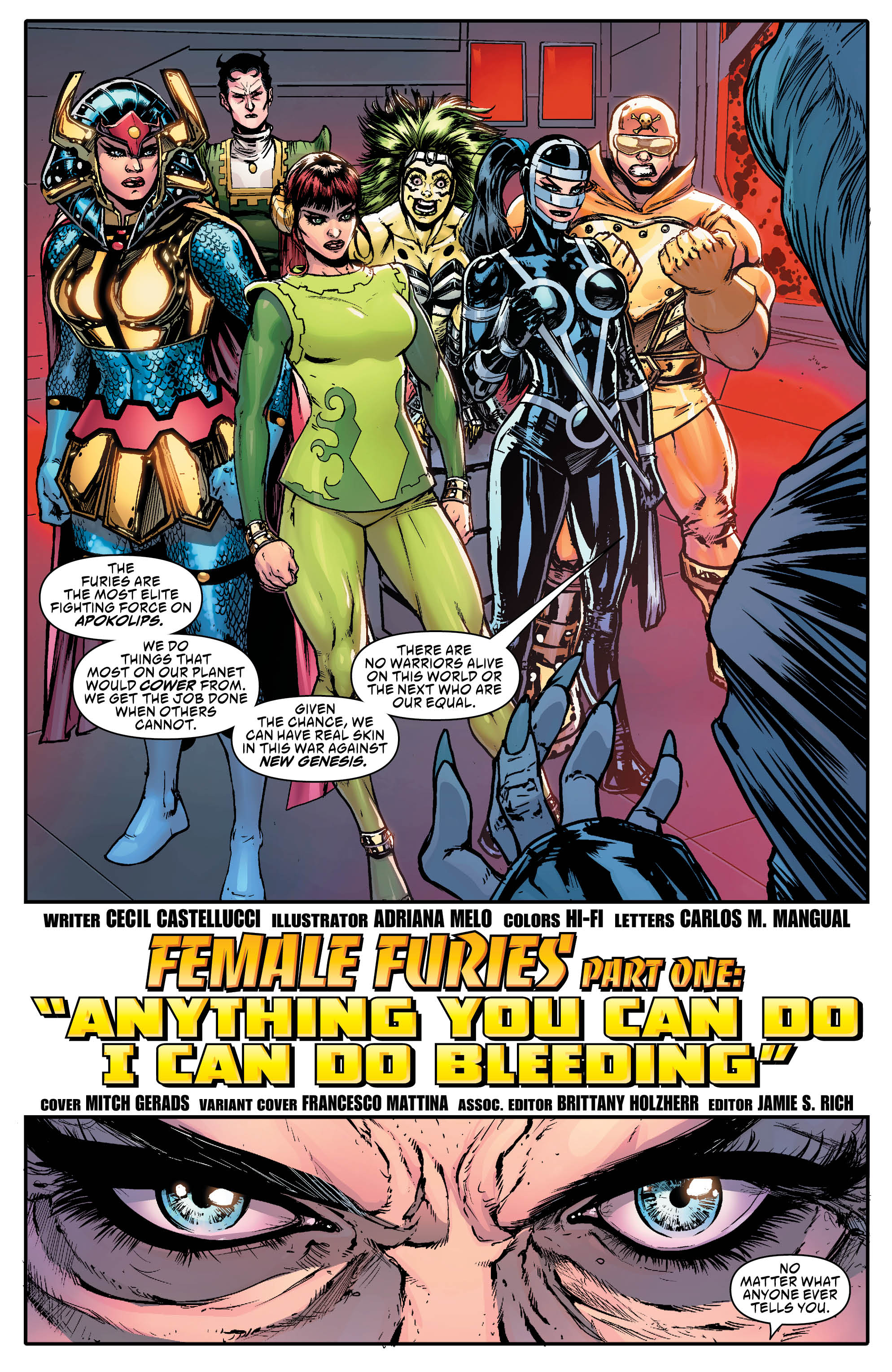 DC ROUND-UP: FEMALE FURIES #1 Argues the Male Gaze is the