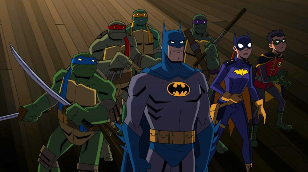 Striking Hard And Fading Into The Night With The Cast Crew Of Batman Vs Tmnt The Beat