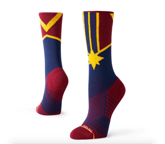 Captain Marvel crew socks by Stance