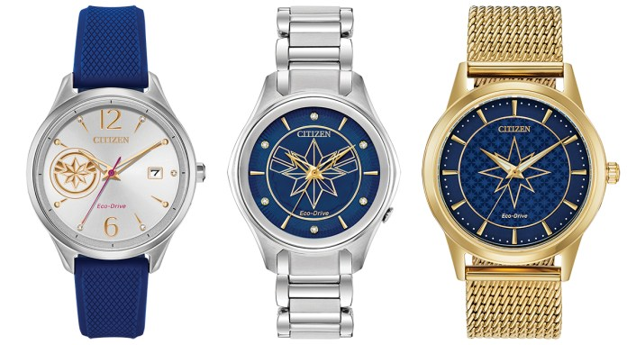 Captain Marvel watches by Citizen