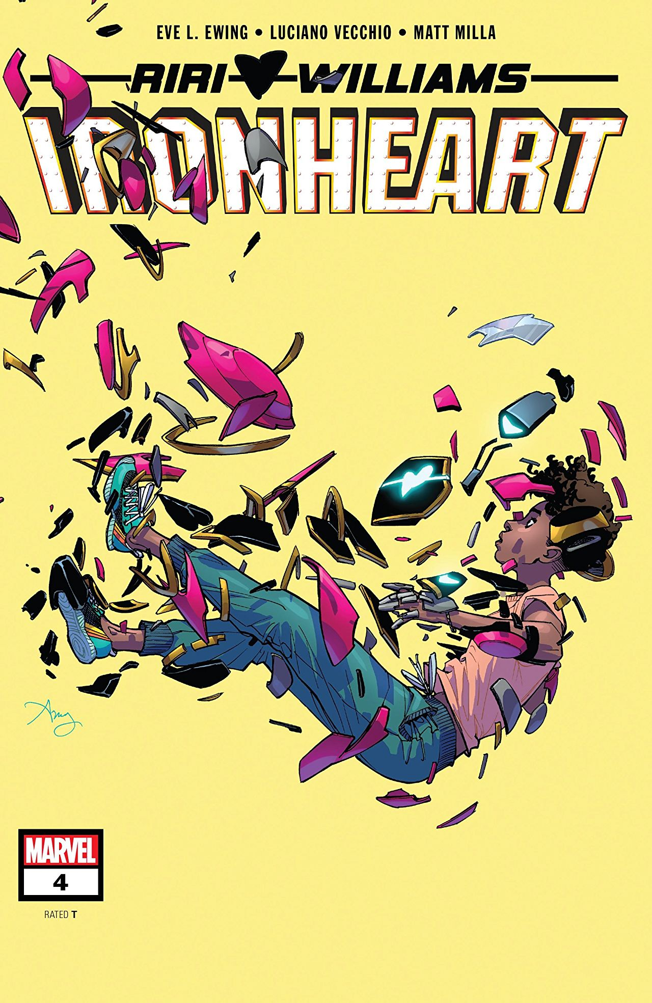 Ironheart #4 cover art by Amy Reeder