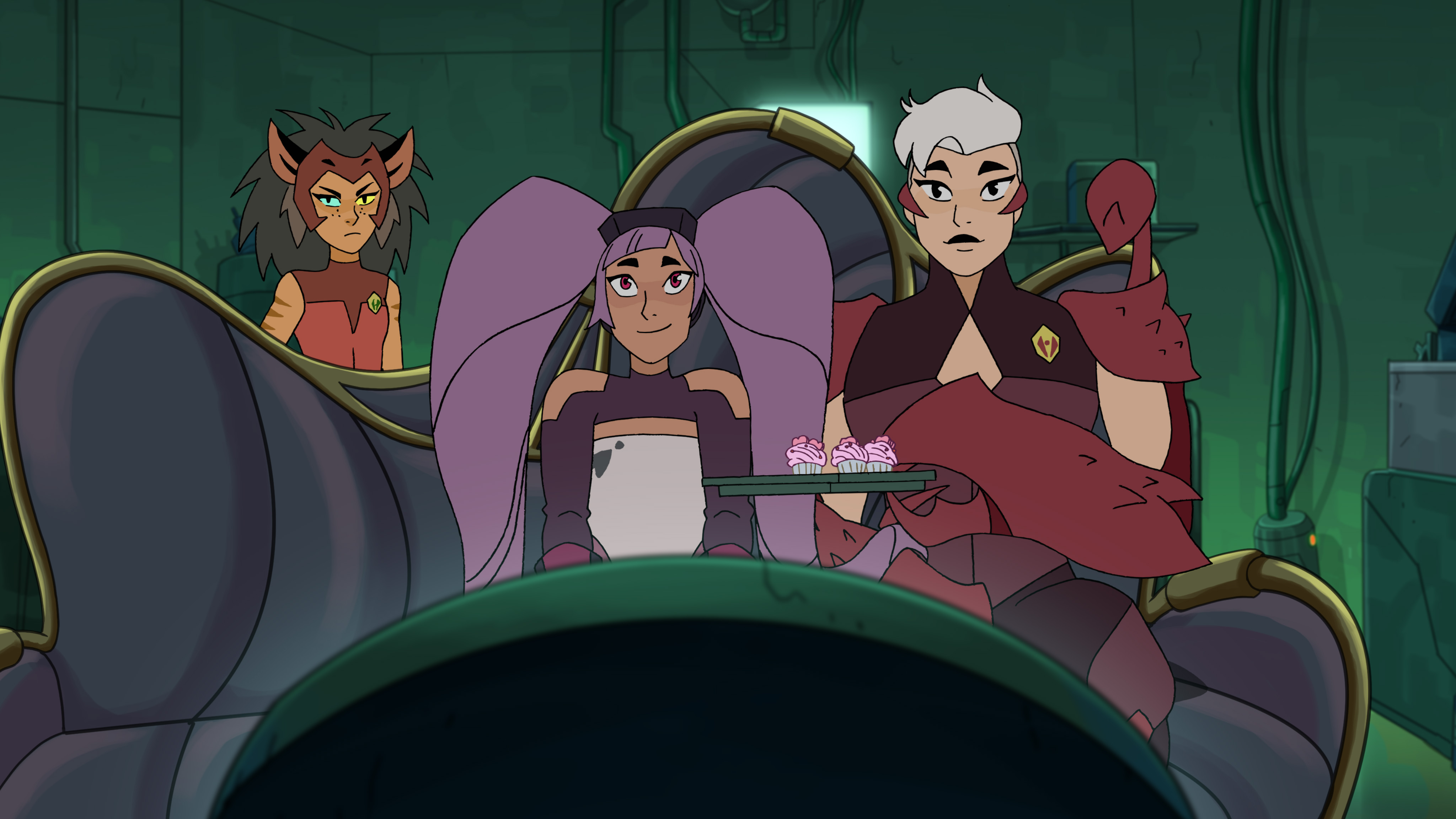 Photo of Catra, Entrapta and Scorpia in She-Ra S2