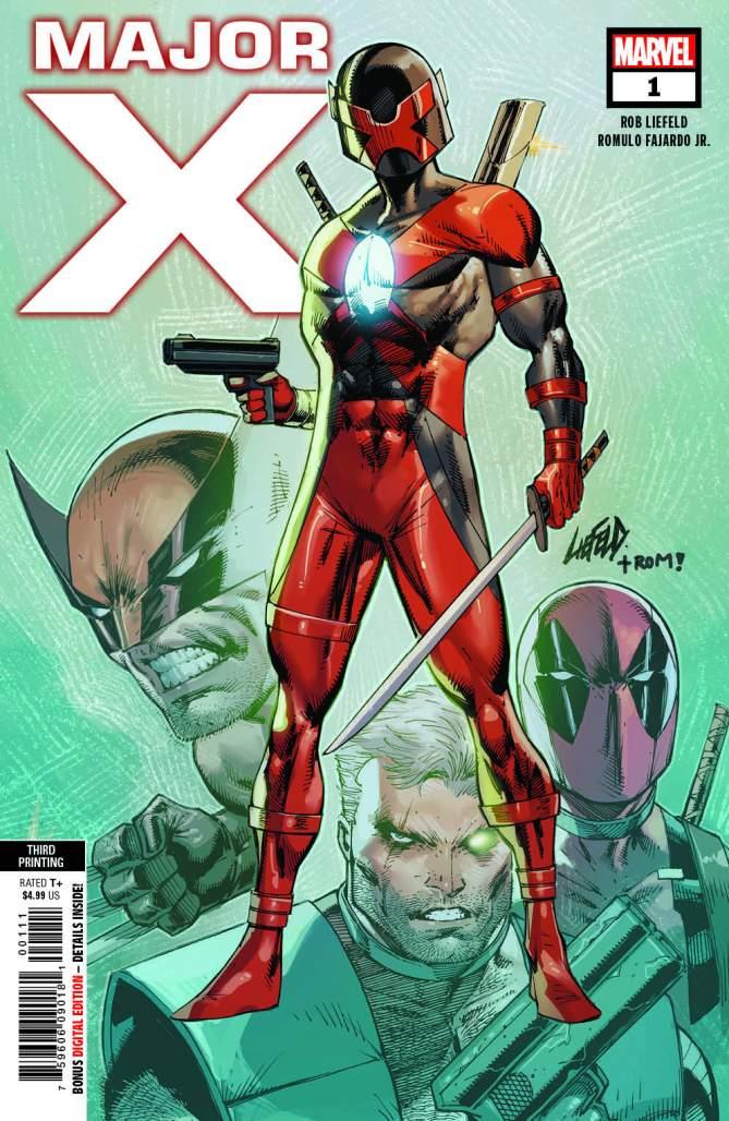 Major X #1 Third Printing