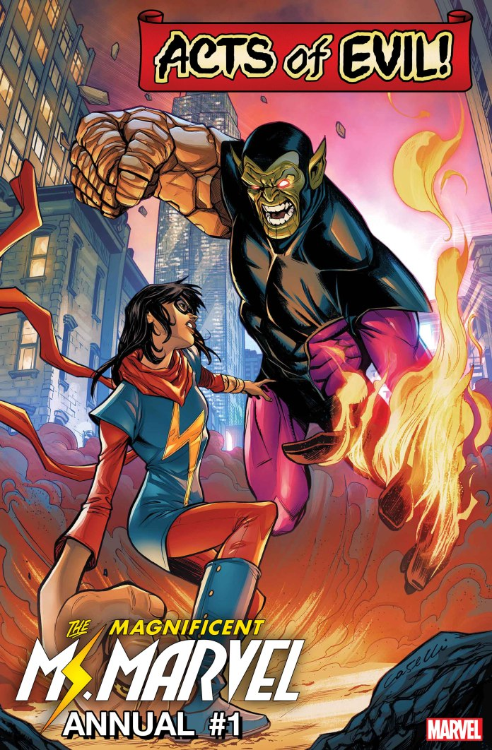 Ms. Marvel Acts of Evil! Annual Cover