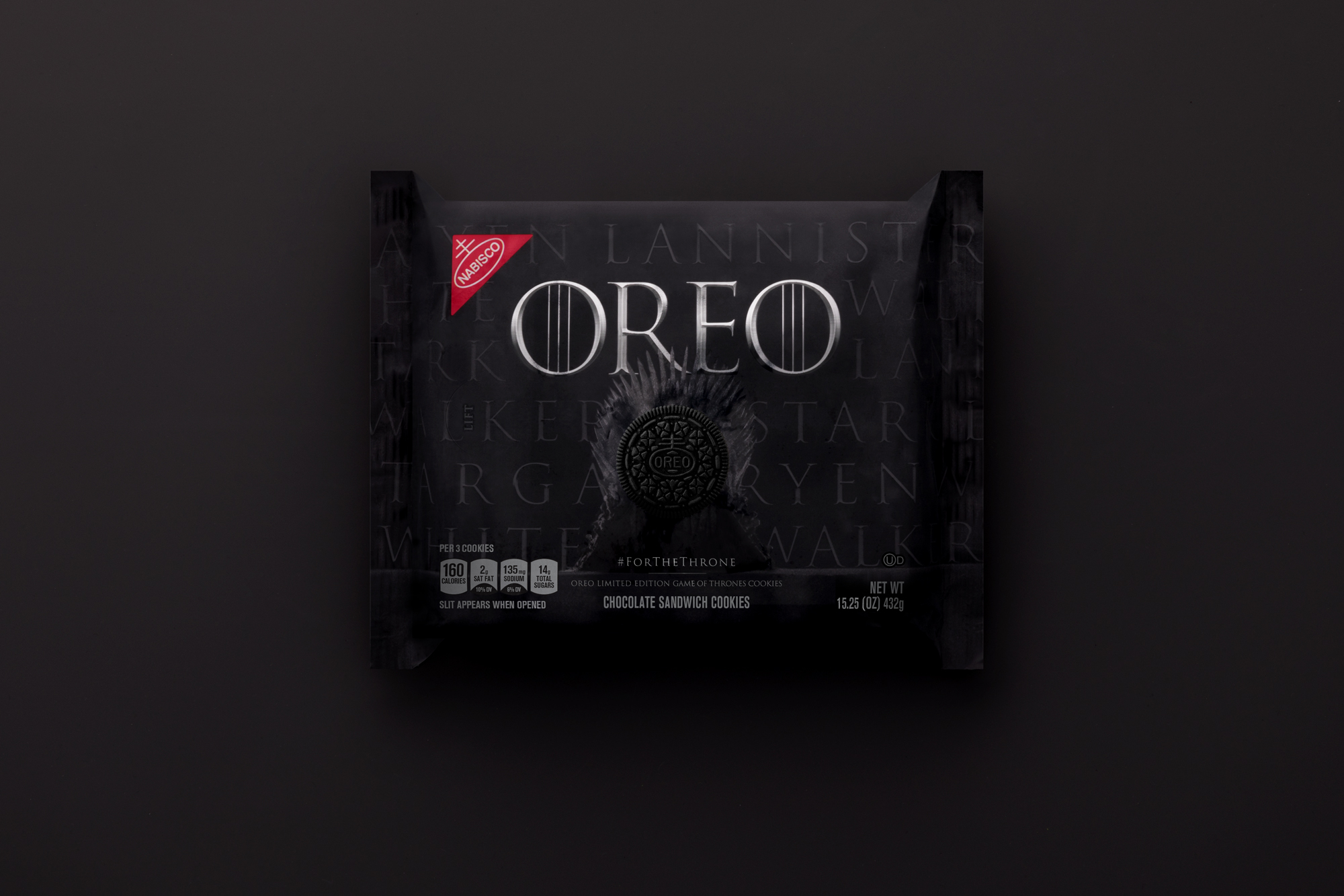 Game of Thrones OREO packaging