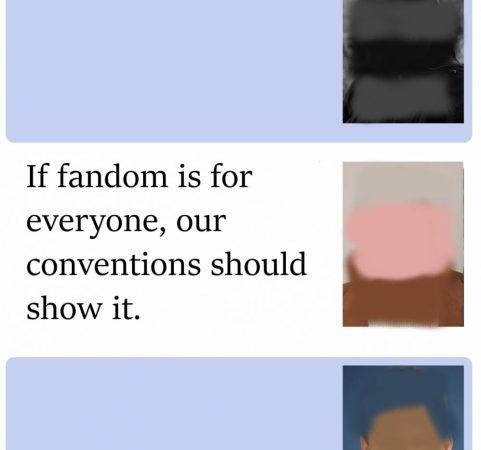 Fandom should represent everyone