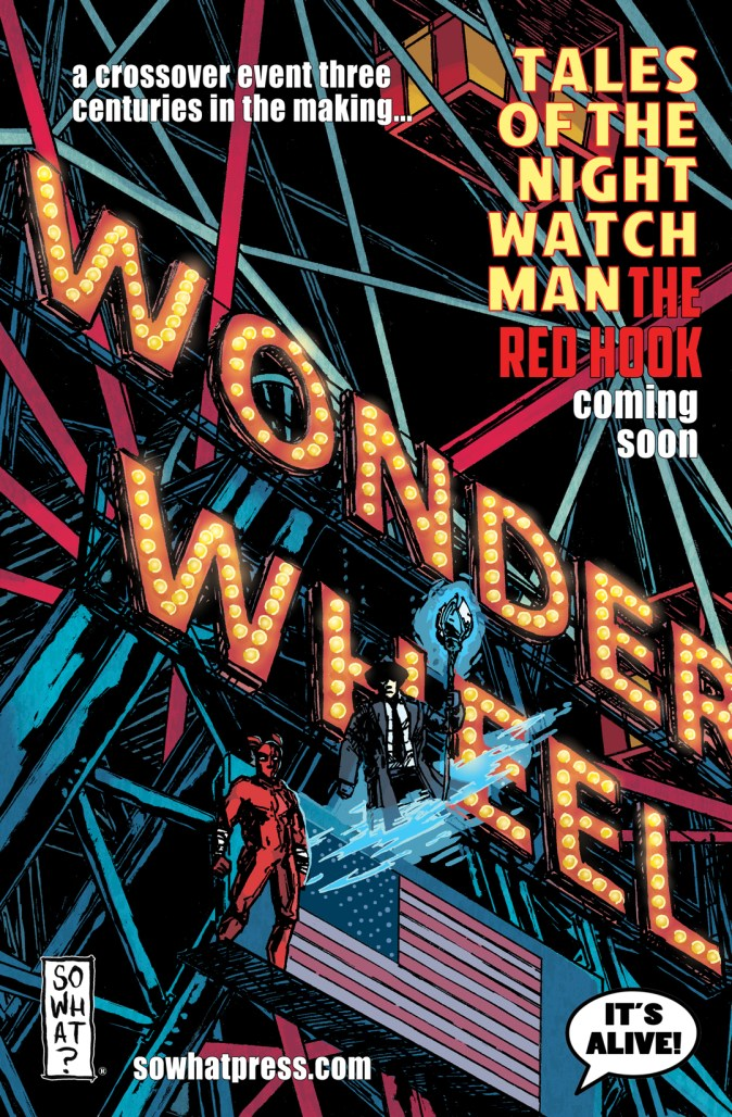 Tales of the Night Watchman Red Hook Crossover cover by Dean Haspiel