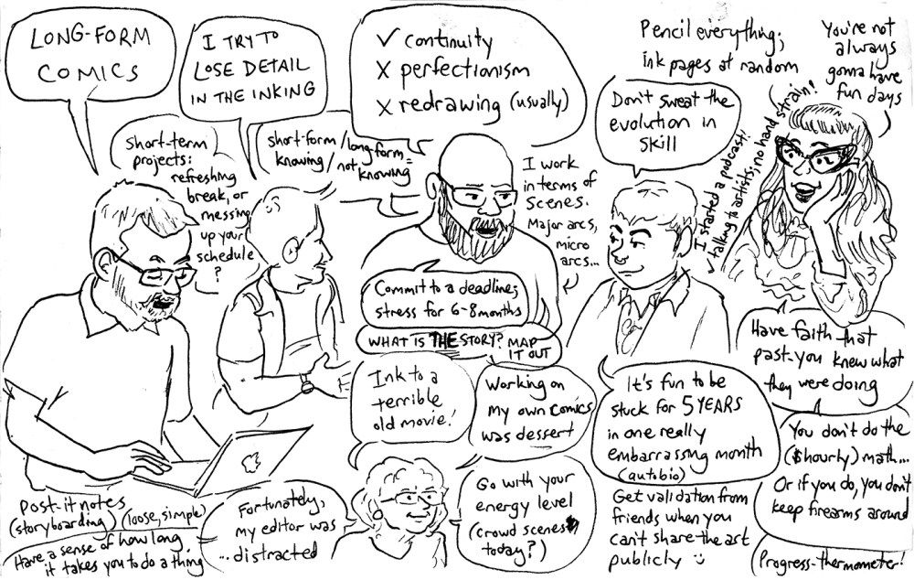 Queers & Comics conference comic 2