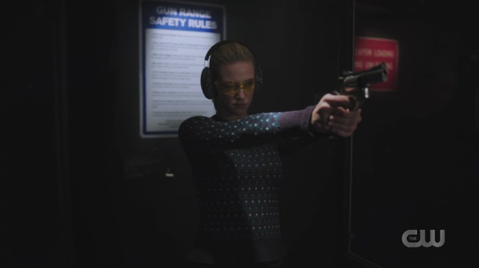 Riverdale Prom Night Betty Cooper shooting guns