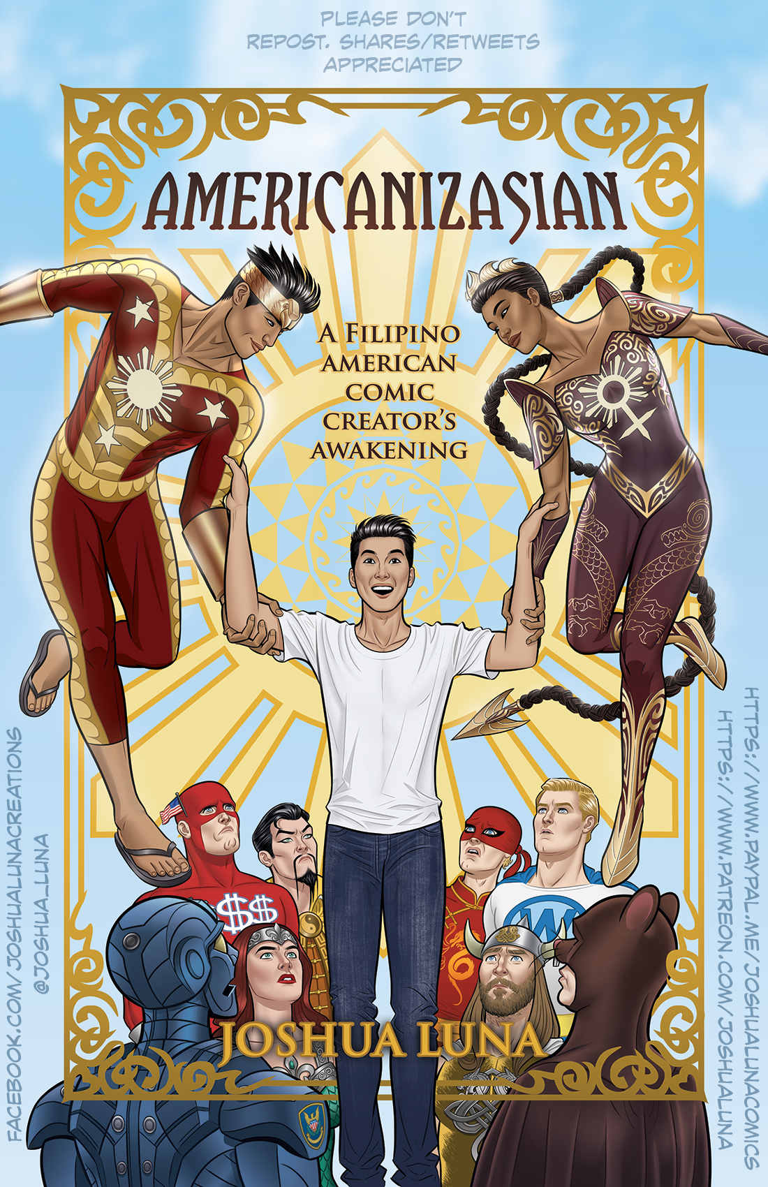 AMERICANIZASIAN cover art by Joshua Luna