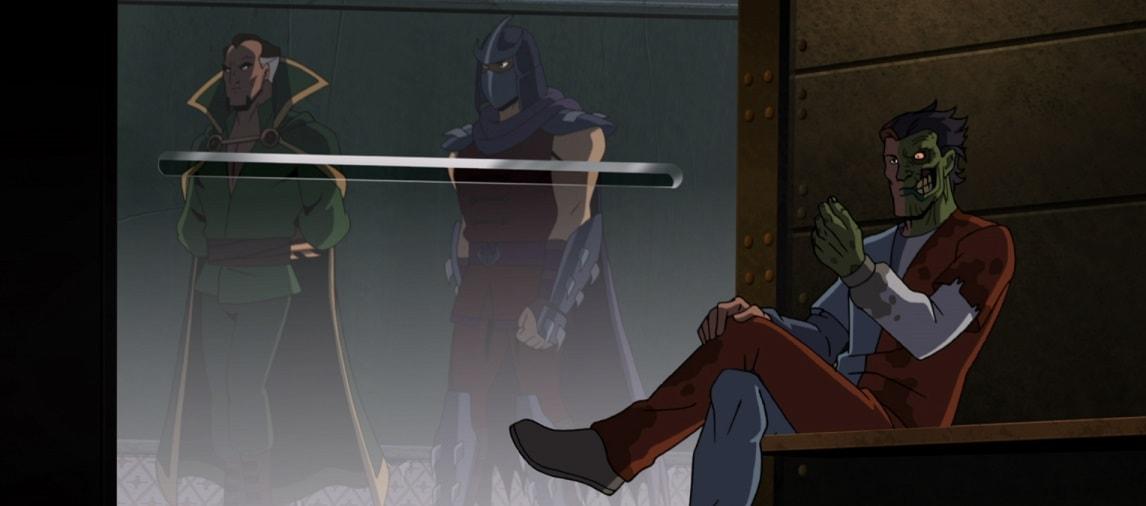 New Batman Vs Tmnt Clip Introduces Some Familiar Arkham Faces The Beat