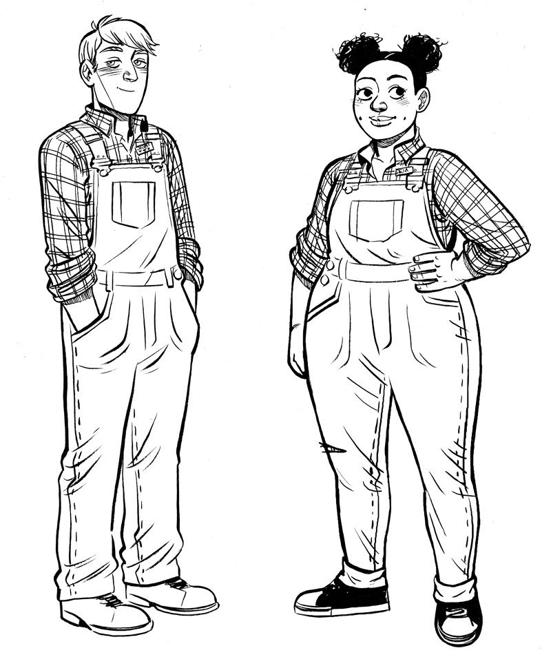 Character designs for Pumpkinheads