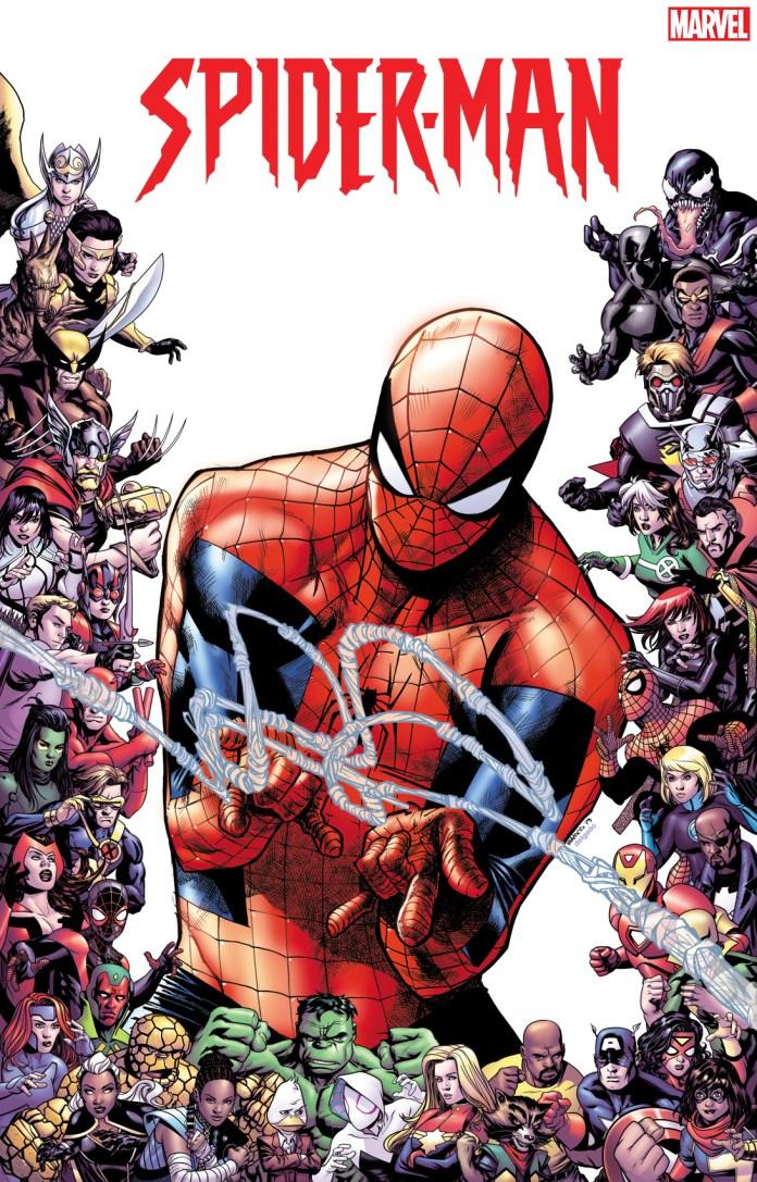 80th anniversary frame variants - Amazing Spider-Man #28 by Humberto Ramos
