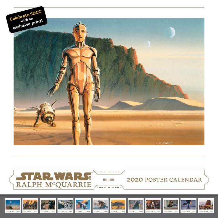 Abrams ComicArts SDCC 2019 Exclusive: Star Wars Art: Ralph McQuarrie 2020 collectible poster calendar