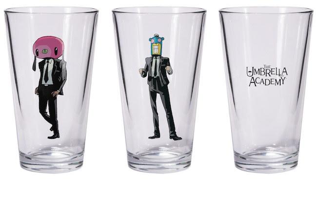 Umbrella Academy merch - Hazel and Cha-Cha pint glass set