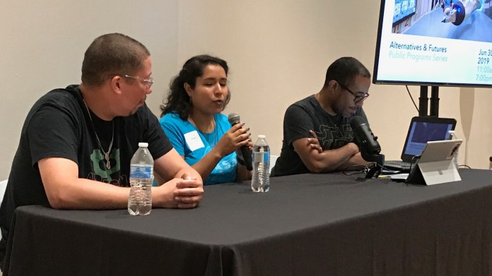 Latinx in sci-fi panel at Women In Comics Con 2019