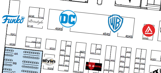 wb booth sdcc 2019