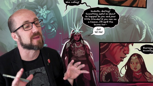 Watch Kieron Gillen explain how to fill out a character sheet in the DIE RPG