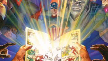 Captain America on the cover of MARVEL COMICS #1000