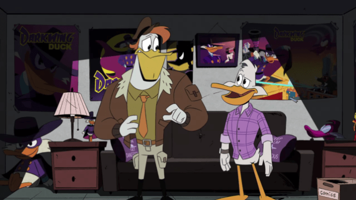 Launchpad and Drake bond over Darkwing Duck