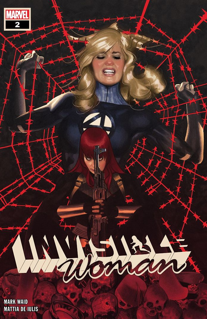 Invisible Woman #2 cover art by Adam Hughes
