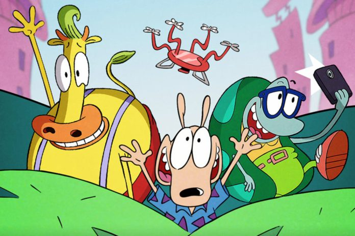 Rocko and Friends in Static Cling