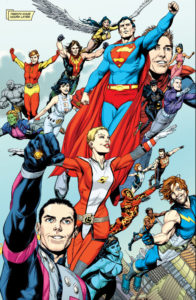 Superman rejoining the Legion's history