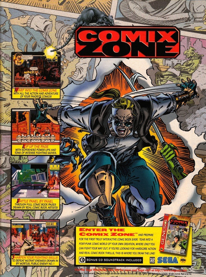 comic video games comix zone