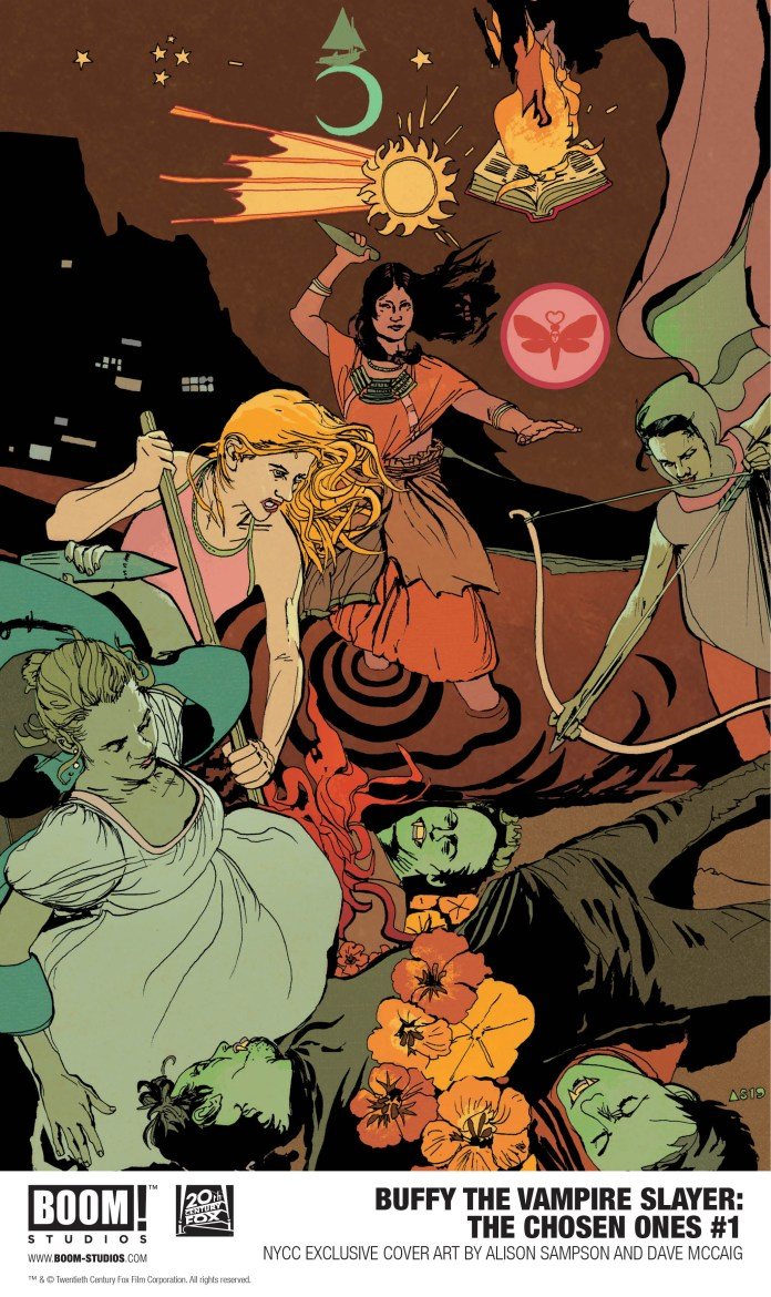 BOOM! Studios NYCC exclusives: Buffy the Vampire Slayer: Chosen Ones #1 Convention Exclusive Variant Cover