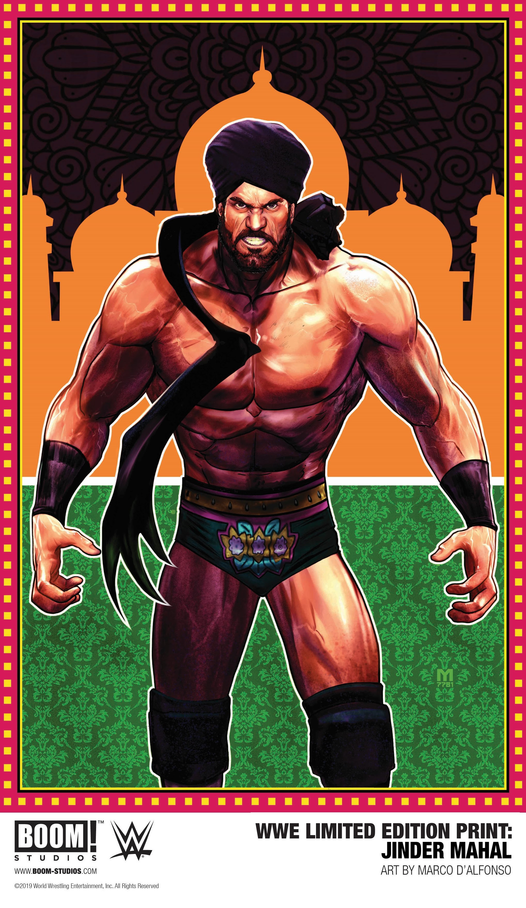 WWE Limited Edition Print: Jinder Mahal