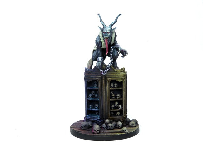 Painted Krampus miniature for Hellboy: The Board Game