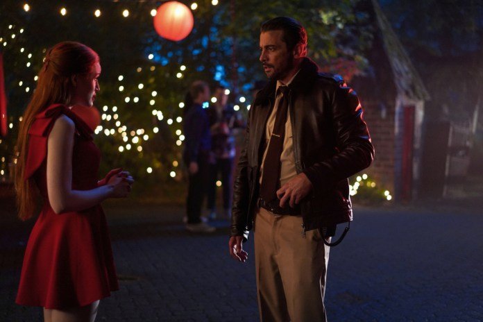 Sheriff Jones tells Cheryl he's cancelling her party thanks to a noise complaint from Riverdale High Principal Honey