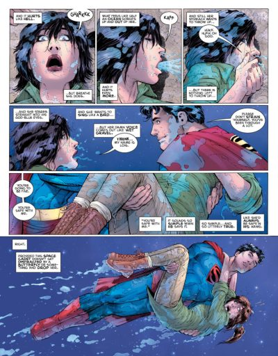 SUPERMAN YEAR ONE - Supes saves Lois from drowning