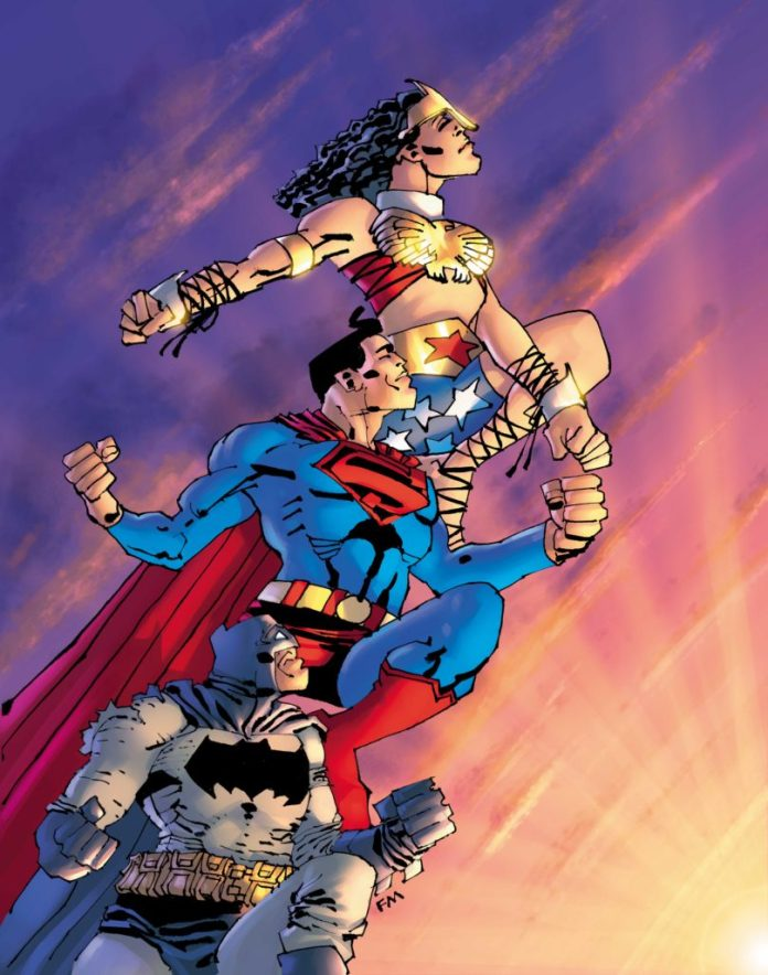 SUPERMAN YEAR ONE - Supes, Bats, and Wondy
