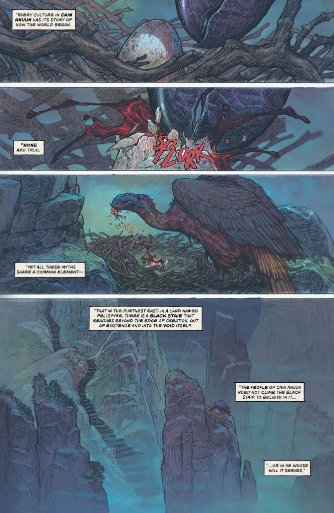 The origin of the world in The Last God #1