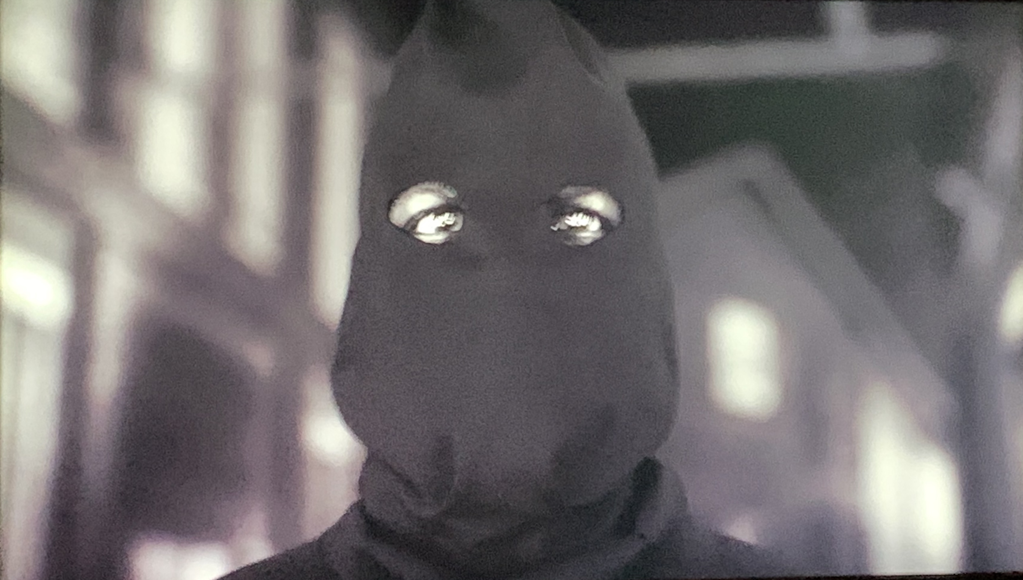 Hooded Justice watches the Cyclops building burn