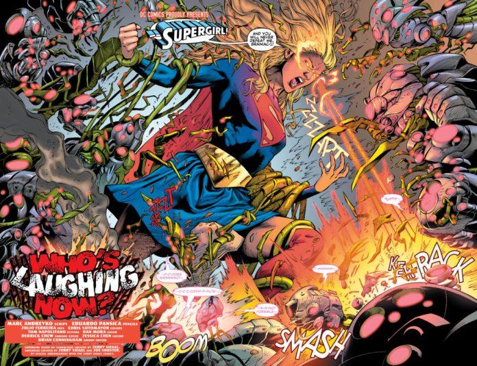 Supergirl fighting Brainiac