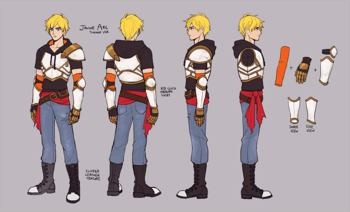 Concept art for Jaune on RWBY