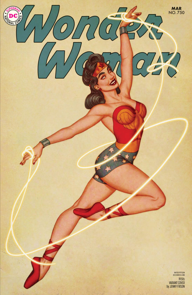 Wonder Woman #750 1950s Variant by Jenny Frison