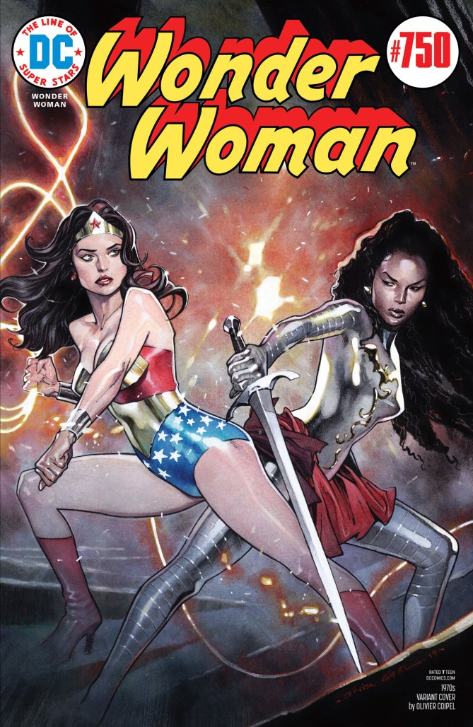 Wonder Woman #750 1970s Variant by Olivier Coipel