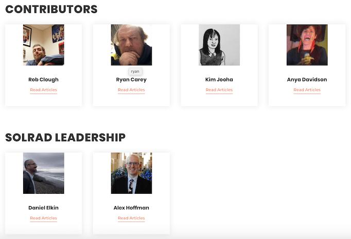 SOLRAD comics contributors