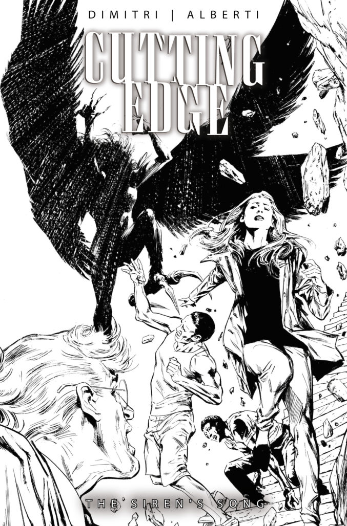 Cover for Cutting Edge by Butch Guice B&W Variant.
