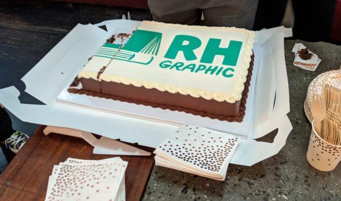 The Random House Graphic cake.