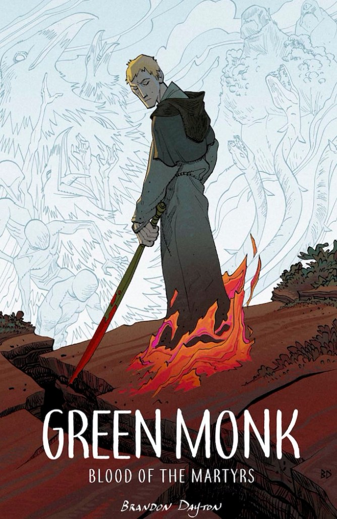 green monk comic graphic novel