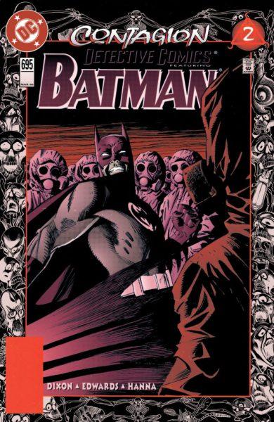 Detective Comics #695 cover - Contagion Part 2 - Art by Bill Sienkiewicz, Gregory Wright, Rodolfo Damaggio