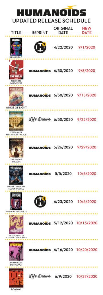Humanoids Schedule